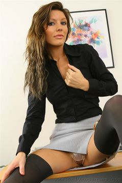 Only Opaques – Nicole in a sexy secretary fit