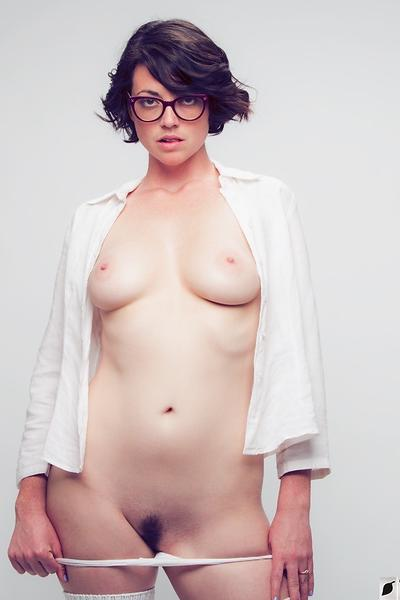Terry Models Eye Glasses for a client… then gets naked for giggles!